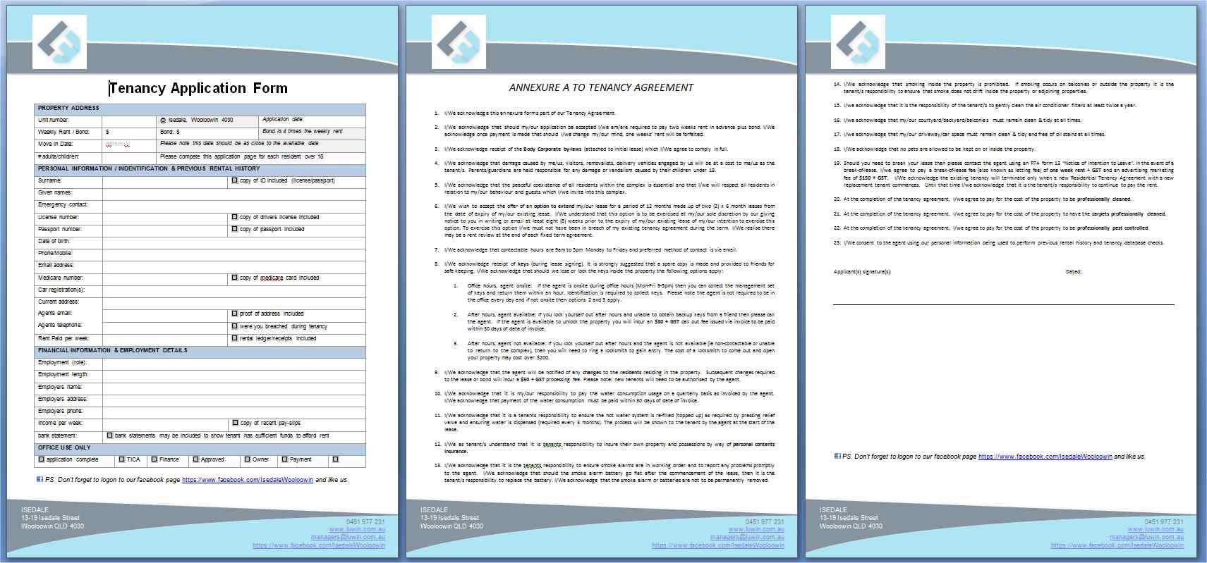 Tenancy Application Form